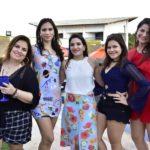 Luciana Valente, Erica Monteiro, Larissa Maciel, Juliana Rocha E Rebeca Arruda