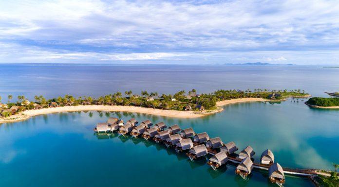 Vista Do Marriot Fiji Momi Bay.
