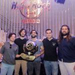 Gabriel Aragão Rafael Martins Caio Evangelista Luiz Sobreira e Nicholas Guimarães 150x150 - Selvagens entrega itens para a memorabilia do Hard Rock Cafe