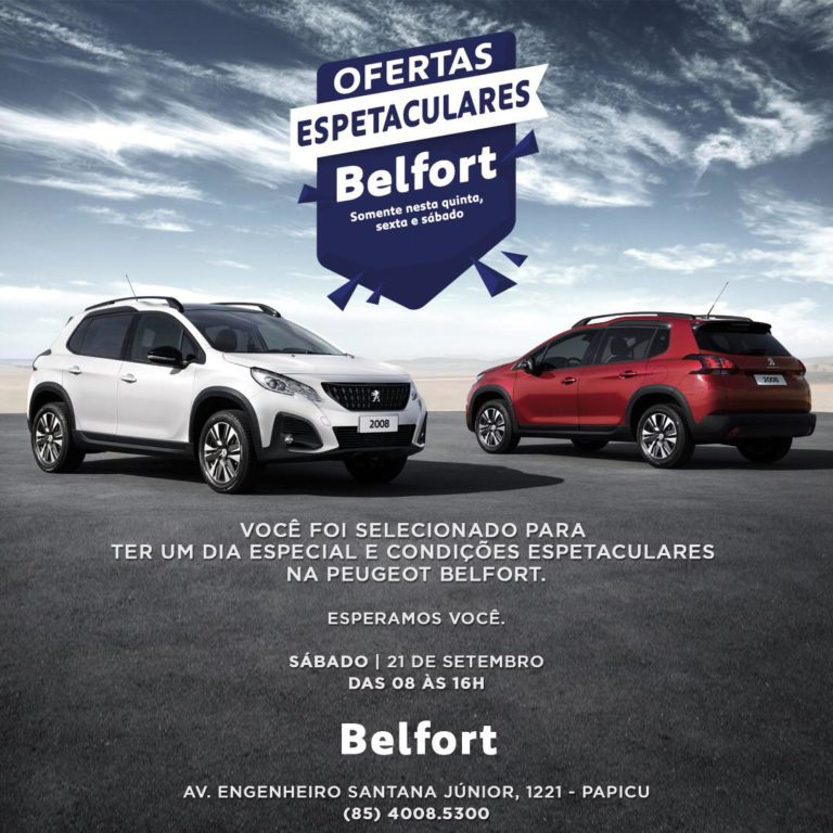"""""""Ofertas Espetaculares"""", da Peugeot Belfort, vai até sábado"""