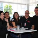 Camila Barreto, Kelliane Araújo, Aline Alves, Marco Aurelio, Albertino Luis