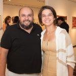 """rico Monteiro e Fernanda Teles 150x150 - LIDE Ceará faz preview de exposição """"Leonilson por Antônio Dias"""""""
