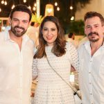 Clóvis e Anelisa Holanda e Miguel Filho 150x150 - Branca e Racine Mourão comemoram aniversário com white party