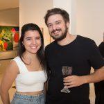 """Dimitra Kyrtata e Igor Colares 150x150 - LIDE Ceará faz preview de exposição """"Leonilson por Antônio Dias"""""""