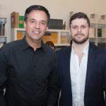"""Fernando Novais e Victor Perlingeiro 2 150x150 - LIDE Ceará faz preview de exposição """"Leonilson por Antônio Dias"""""""