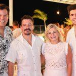 Gustavo Serpa Miguel Filho Rosângela Dias e Itaquê Figueiredo 150x150 - Branca e Racine Mourão comemoram aniversário com white party