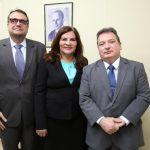 Jospe Leite Fernanda Uchoa e Durval Vasconcelos 150x150 - Kamile Castro é empossada juíza do TRE-CE