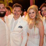 Luiz Victor Torres Racine e Branca Mourão e Bianca Cipolla 150x150 - Branca e Racine Mourão comemoram aniversário com white party