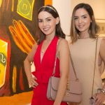 """Natasha Dias Branco e Maria Braz 150x150 - LIDE Ceará faz preview de exposição """"Leonilson por Antônio Dias"""""""