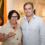 """Nicinha Dias e Edson Neto 150x150 - LIDE Ceará faz preview de exposição """"Leonilson por Antônio Dias"""""""