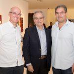 """Yuri Colares Max Perlingeiro e Edson Neto 150x150 - LIDE Ceará faz preview de exposição """"Leonilson por Antônio Dias"""""""