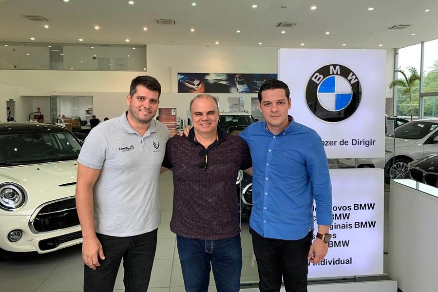 Newton Basto Eladio Bede e Saulo Parente Newtech e BMW Haus Motors - Newtech Blindagens realiza visitas a concessionárias parceiras