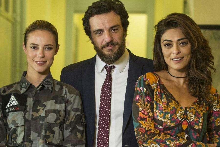 Paolla Oliveira, Rodrigo Lombardi E Juliana Paes Em A Força Do Querer