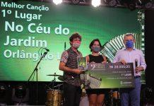1º Lugar Melhor Canção No Céu Do Jardim, Ariadna Sampaio (interprete), Orlângelo Leal (compositor) E José Sarto