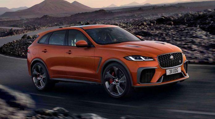 2021 Jaguar F Pace Svr Orange