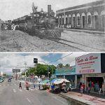 Antiga Rua Do Trilho De Ferro Atual Av. Tristão Gonçalves Na Altura Do Cruzamento Com A Rua Guilherme Rocha. A Foto Antiga é Do Início Do Século XX