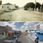 Dois Momentos Da Antiga Entrada Da Parangaba. A Foto Antiga é Provavelmente Dos Anos 20