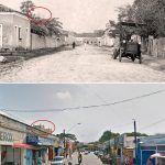 Entrada Da Parangaba Em 1919 E Atualmente. No Detalhe As Torres Da Igreja De Bom Jesus Dos Aflitos