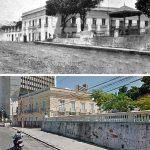 Rua Sena Madureira Com Vista Para A Praça Dos Leões E O Antigo Palácio Do Governo. A Foto Antiga é Por Volta De 1910.